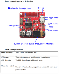 Image 3 - 10PCS Bluetooth Audio Receiver board Bluetooth 4.1 mp3 lossless decoder board Wireless Stereo Music Module
