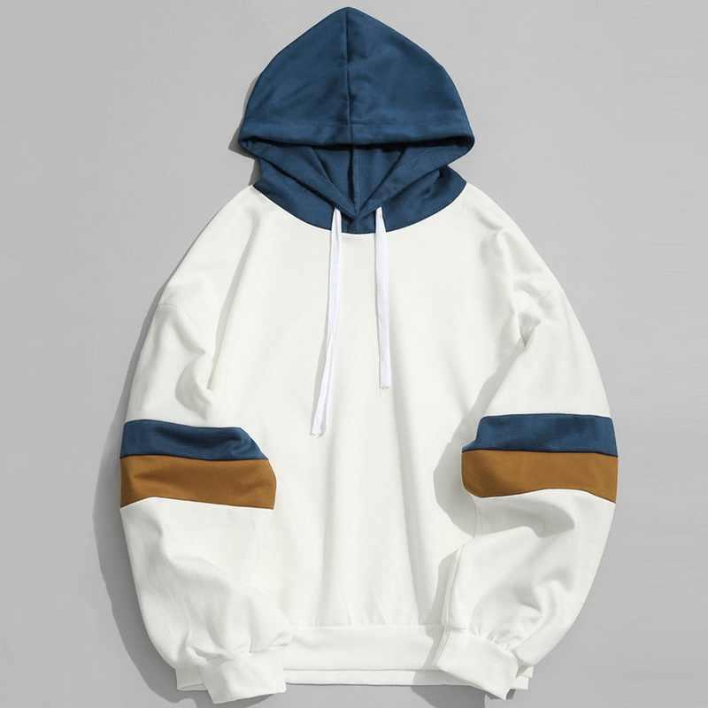 Sweats capuches hommes femmes couleur bloc sweat à capuche Patchwork Hip Hop Streetwear 2020 nouvelle mode hommes vêtements