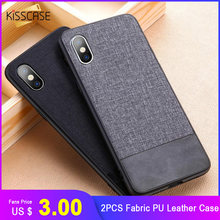 KISSCASE 2 PCS Fabric PU Leather Case For iPhone XS Max XR XS X 6S 6 7 8 Plus Retro Cloth Case For iPhone 11 Pro Max 11 Pro 11(China)