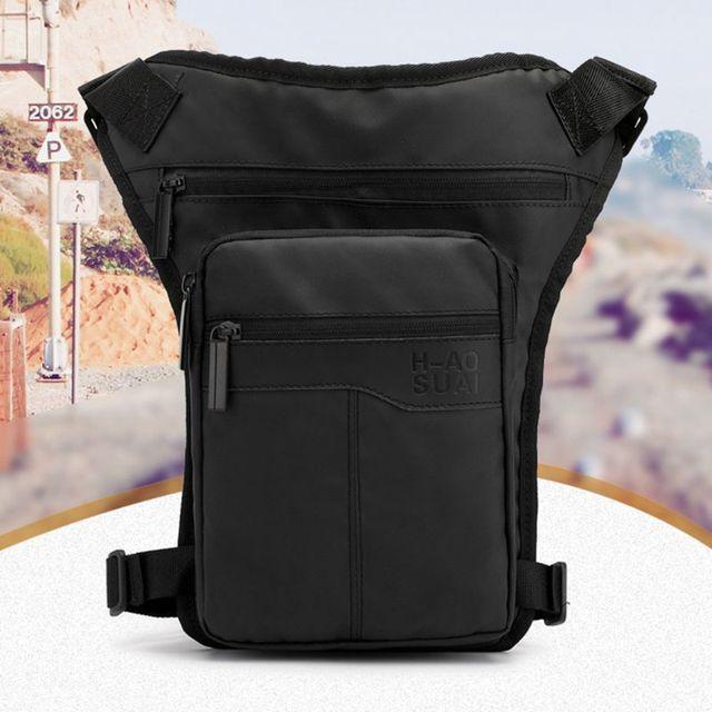 Men Nylon Motorcycle Hip Belt Waist Fanny Pack Riding Travel Shoulder Messenger Crossbody Bags Thigh Drop Leg Bag