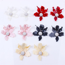 HIYONG New Design Fashion Bohemian Big Flower Drop Earrings for Women Hot Sale Resin Statement Wedding Charm Earring Jewelry