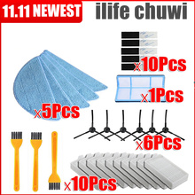 Robot-Cleaner-Parts MOP-HEPA-FILTER Side-Brush Vacuum V5s V5s-Pro for Ilife V5s/V3/V3s/..