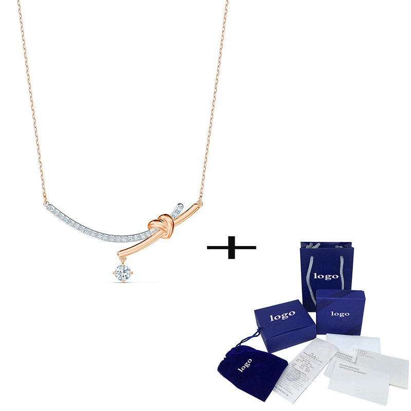 2020 Fashion New Simple Rose Gold LIFELONG HEART Ms. Necklace Send Girlfriend Birthday Engagement Exquisite Jewelry Gift