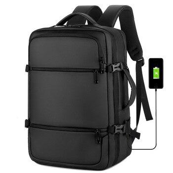 Black men Backpack for Laptop 15.6 Big Capacity Waterproof Oxford Back Pack Travel Business Usb Charging Computer Backbag Male