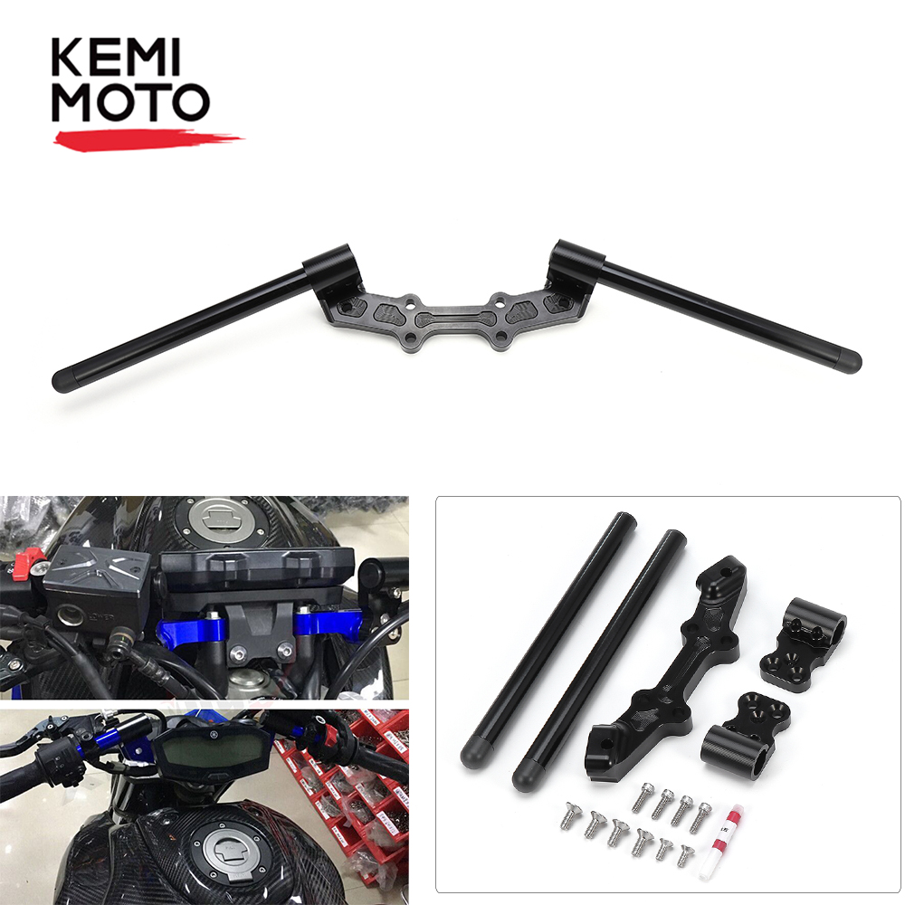 Kemimoto For Yamaha Mt 07 Fz 07 Mt07 Motorcycle Accessories Adjustable Handlebars Handle Bar With Clamp Kit Mt 07 2014 2015 2016 Handlebar Aliexpress
