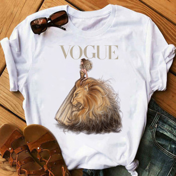 Summer Harajuku aesthetic Female Tshirt Vogue Print Short Sleeve Tops & Tees Fashion Casual T Shirt Women Clothing T-shirts women agust d black t shirts female short sleeve tees 2020 summer brand vogue choose clothing girl tops