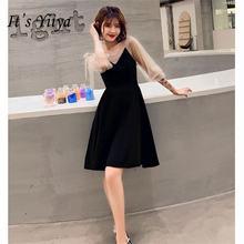 Женское коктейльное платье it's yiiya черное до колена с