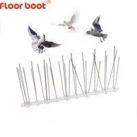 Os pontos do repelente do pássaro da bota do assoalho/assustadores pombos anti/rejeitam o controle do pássaro anti/espigões de pássaro de aço inoxidável/scarer plástico 1m-8mj