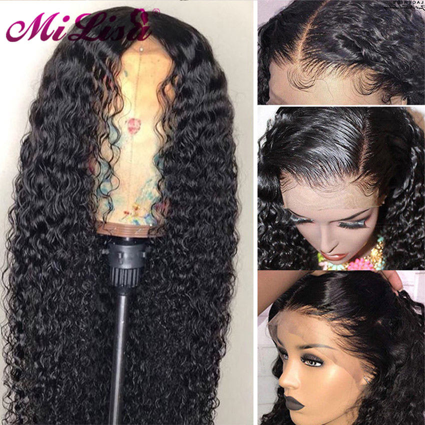 150 Density Water Wave Wigs 360 Lace Frontal Wigs Pre Plucked With Baby Hair Remy Brazilian Short Lace Frontal Human Hair Wigs