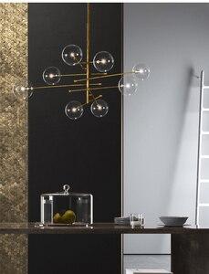 Image 5 - מודרני שעועית תליון תאורת נורדי זכוכית כדור תליית אור לסלון/חדר שינה/חדר אוכל מודרני מעצב אור מתקן