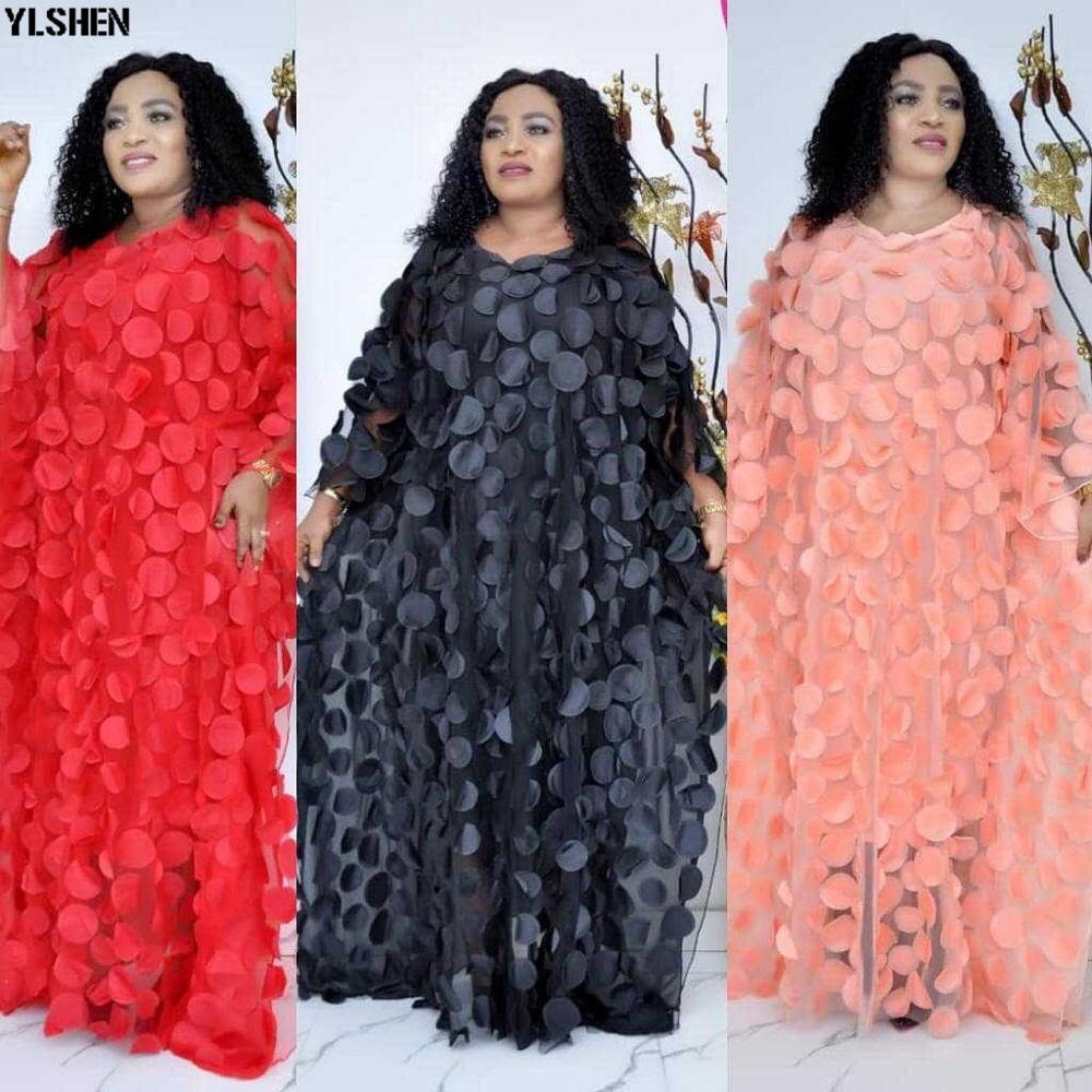 2019 Autumn African Dresses For Women Super Size New Dashiki Fashion Loose Embroidery Abaya Muslim Long Dress African Clothes