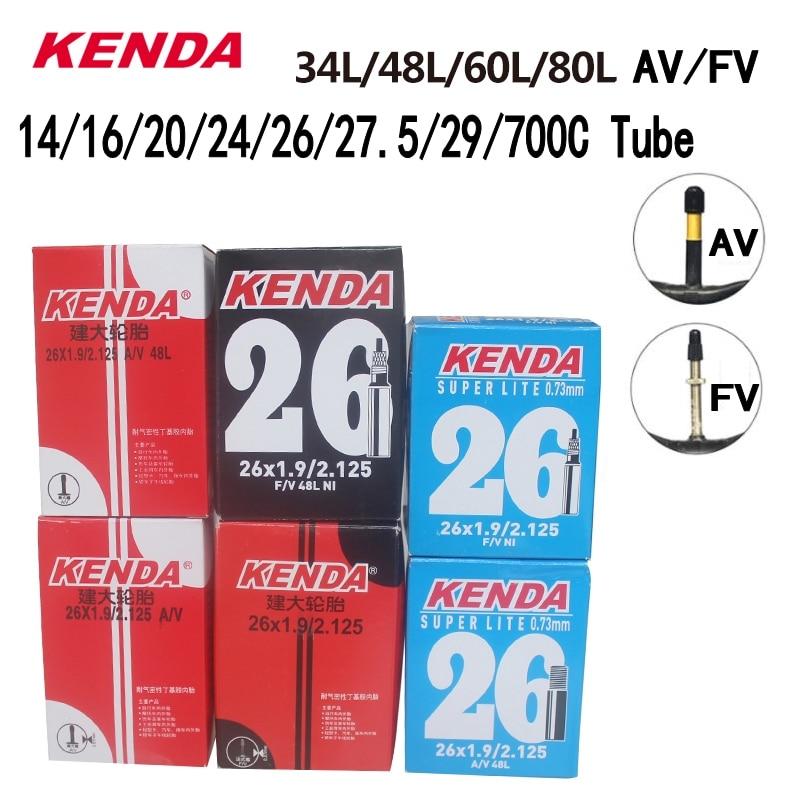 Велосипедная внутренняя трубка Kenda для шины горного велосипеда, бутиловая резина, велосипедная трубка, шина 26/27, 5/29/700c Presta Schrader клапанная тру...