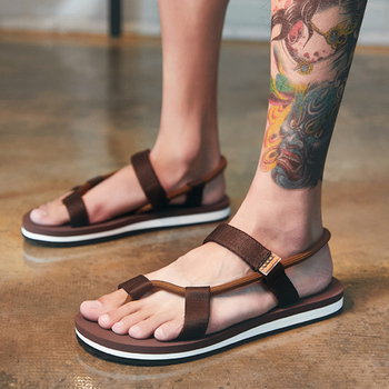 2020 New Roman Gladiator Sandals for Male Summer Beach Shoes Man Flip Flops Slip on Flats Slippers Slides Sandalias Hombre sequins women slippers closed toe bling gladiator sandals flip flops glitter flats lady slides wedding shoes eyes sandalias 40