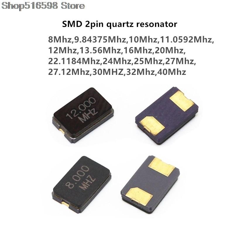 8MHZ 10MHZ 11.0592MHZ 12MHZ 13.56MHZ 16.000MHZ 20MHZ 24MHZ 8.000MHZ 16MHz 2Pin 5032 smd quartz resonator Crystal Oscillator