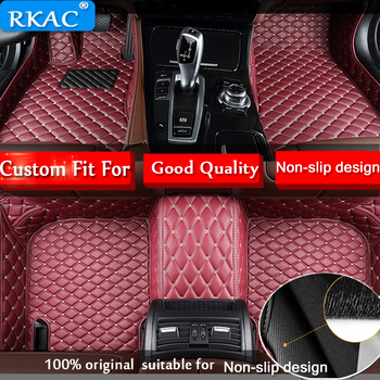 RKAC CUSTOM leather car floor mat for Toyota Land Cruiser 200 Prado 120 Rav4 Corolla Avalon Camry Prius Carpets car accessories image
