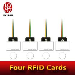 Accessoire de jeu d'aventurier d'évasion de pièce de support de rfid quatre accessoires de rfid ont mis quatre cartes d'ic dans une à une relation pour déverrouiller avec l'audio