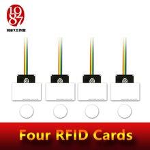 Rfid prop room escape adventurer spiel prop vier rfid prop setzen vier ic karten in eins zu eins beziehung zu entsperren mit audio