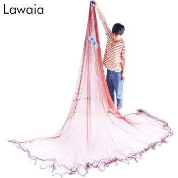 Lawaia Casting Net Catch Fishing USA Cast Nets Throw Fly Network Diameter 2.4m-7.2m Small Mesh Gill With Sinker