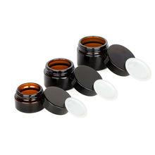 1PCS 5g/10g/15g/20g/30g/50g Glas bernstein Braun Kosmetische Gesicht Creme Flaschen Lip Balm Probe Container Glas Topf Make Up Shop Fläschchen