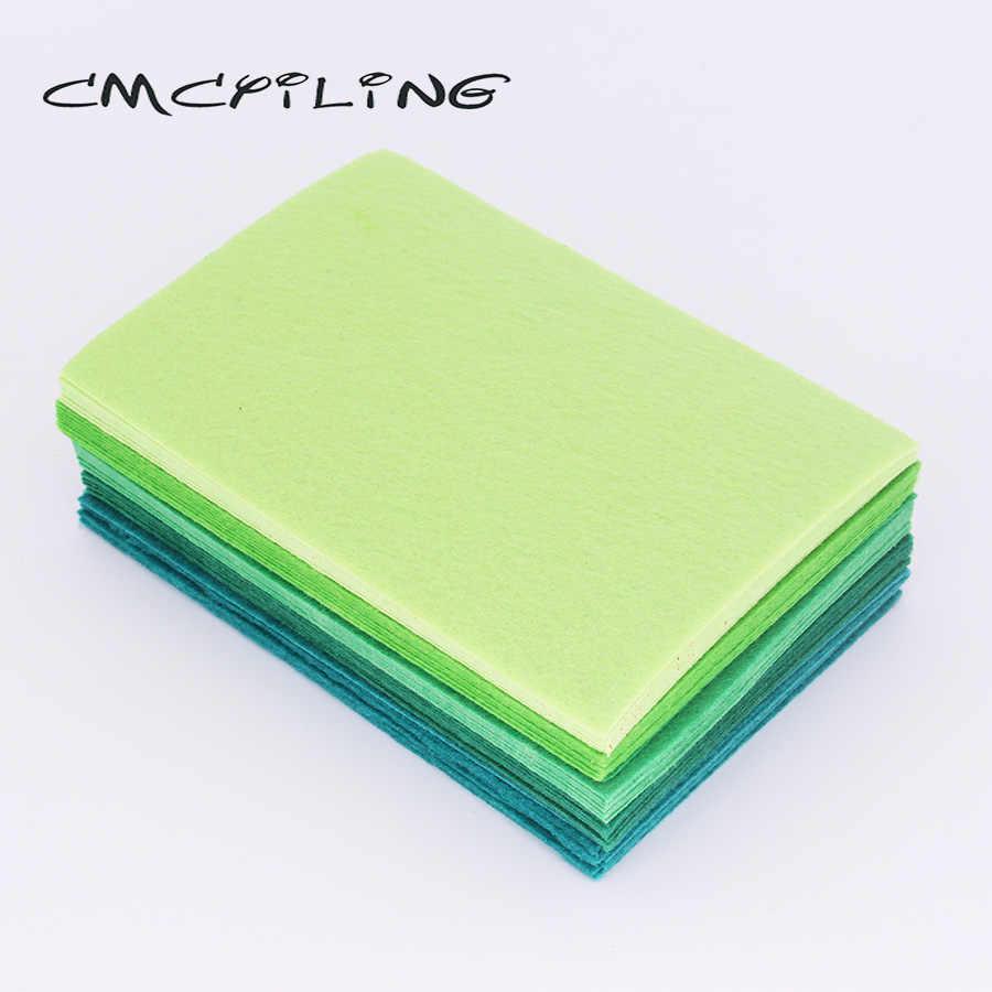 CMCYILING 40 pz/lotto 10*15cm Feltro Tessuto di 1 MM di Spessore Tessuto Poliestere Per Il Cucito FAI Da TE Mestieri Scrapbook Feltro lenzuola Verde