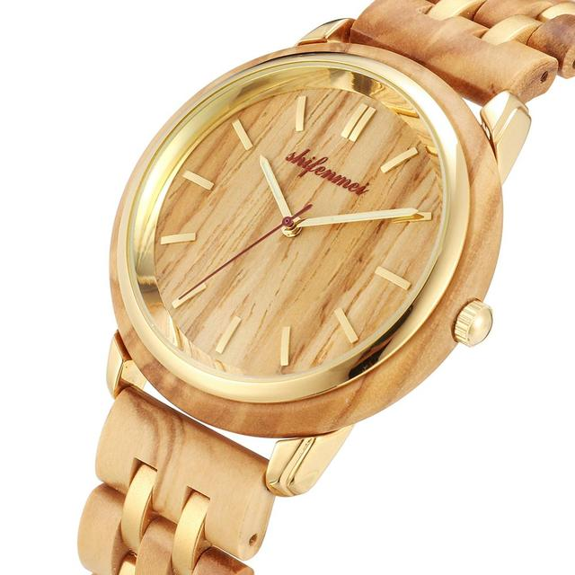 Couple Watches for Lovers Luxury Wood Watch Mens Fashion Wooden Women Dress Clocks Gifts for Valentine's Day Relogio de casal 1