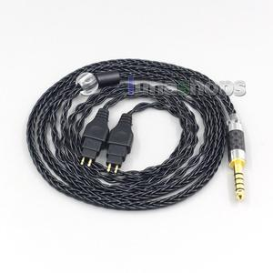 Image 1 - LN007038 8 Core Balanced Pure Silver Plated Earphone Cable For Sennheiser HD580 HD600 HD650 HDxxx HD660S HD58x HD6xx