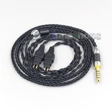 LN007038 8 Core מאוזן טהור כסף מצופה אוזניות כבל עבור Sennheiser HD580 HD600 HD650 HDxxx HD660S HD58x HD6xx