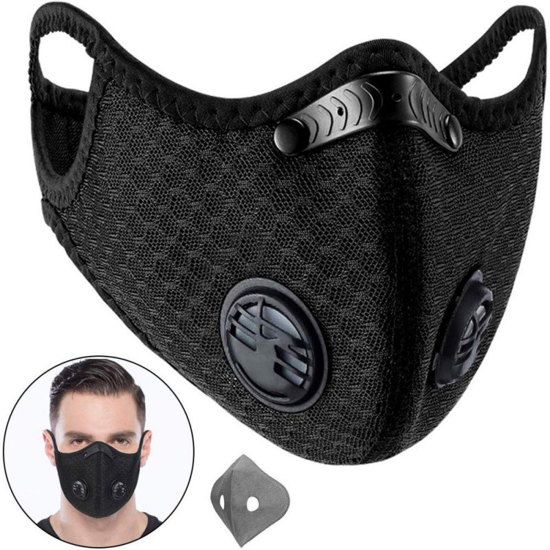 PM2.5 Dust Mask Face Respirator Reusable Earhook Breathable Protective Mask Filter Safety Respirator Cycling Mask Mascarilla