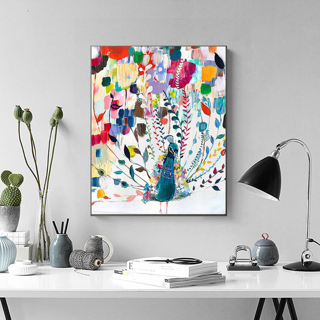 Painting By Numbers Bright Colours Abstract Peacock