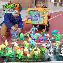 Plants Pea Shooting Zombie 2 Toys Complete Set gift for Boys Large Ejection Anime Figure Children's Dolls with Colorful Box