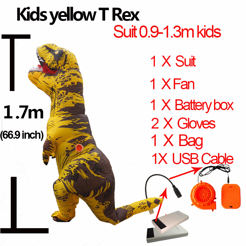 Anime Cospaly Adult Men T REX Costume Inflatable Dinosaur t-rex Mascot Costume Adultos Halloween Dinosaur Costume for Kids Women (2)