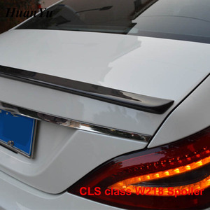 Image 5 - Carbon Fiber Rear Trunk Spoiler for Mercedes benz W218 2011 2016 CLS 280 CLS300 CLS350 CLS500 Boot Lip Wings Car Styling