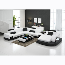 Современная мебель для гостиной l-образный кожаный диван с шезлонгом