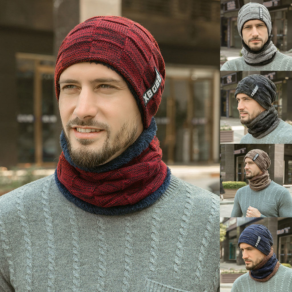 Men Winter WIndshield Scarf Hat Can Be Used As Scarf And Hat For Male