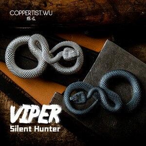 Image 1 - CPTS.WU S925 Snake Keychains Original Design Handmade Key Chain Fashion Animal Key Ring Handbag Pendant Punk Rock