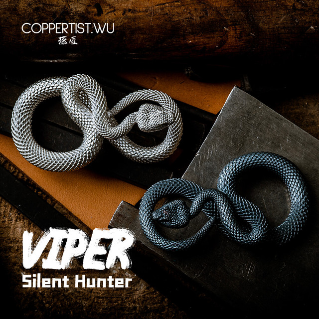 CPTS.WU S925 Snake Keychains Original Design Handmade Key Chain Fashion Animal Key Ring Handbag Pendant Punk Rock