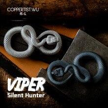 CPTS.WU porte clés fait main en forme de serpent S925, Design Original, accessoire Animal, sac à main, pendentif Punk Rock