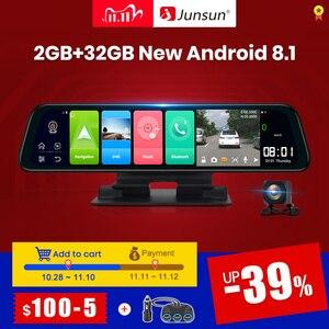 Image 1 - (11.11 code:1111VENTE6)Junsun Android 8.1 2GB + 32GB ADAS 10 en 1 DashCam voiture DVR miroir caméra 4G WIFI GPS Bluetooth Full HD 1080P enregistreur vidéo