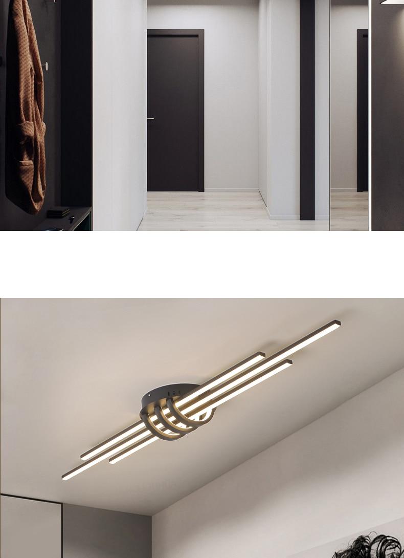 Hallway Pendant Light | LED Ceiling Lights | New Modern Led Ceiling lights for bedroom corridor foyer living room Matte Black White 90-260V Modern Led Ceiling lamp Fixtures