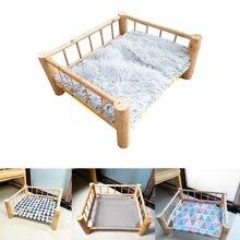 2020 новая кровать из цельного дерева для лагеря питомцев деревянная