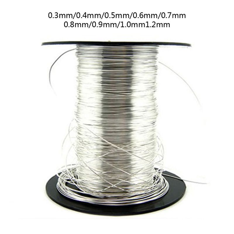 1 M 925 Sterling Silver Wire In Jewelry Making 0.3/0.4/0.5/0.6/0.7/0.8/0.9/1.2mm