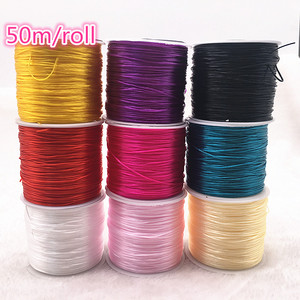 50M/Roll Flexible Elastic Crystal Line Rope Cord For Jewelry Making Beading Bracelet Wire Fishing Thread Rope Color U Pick(China)