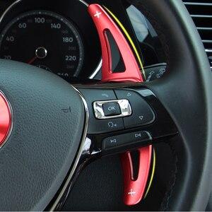 Image 1 - ההנעה מכונית עבור פולקסווגן פולקסווגן גולף 7 MK7 פולו MK6 טוארג רכב הגה הארכת שיפטר אלומיניום את הגה DSG מוט הילוכים
