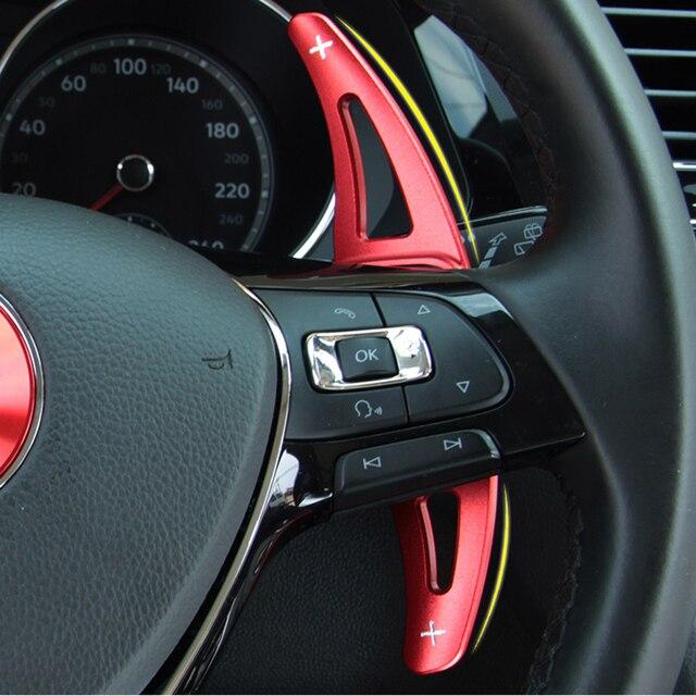 Auto Paddle Voor Volkswagen Vw Golf 7 MK7 Polo MK6 Touareg Auto Stuurwiel Uitbreiding Shifter Aluminium Het Roer Dsg gear Shift