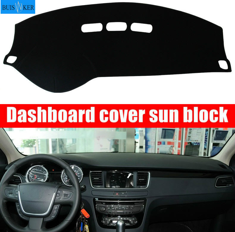 For <font><b>Peugeot</b></font> <font><b>208</b></font> 2012~2019 Active Allure <font><b>GTI</b></font> 2015 Dashboard Cover Sun Shade Dash Mat Pad Carpet Car Stickers Interior Accessories image