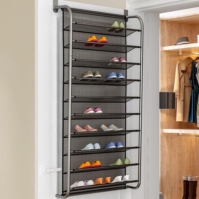 1 pc シンプルな廊下省スペース靴オーガナイザー新ドア靴ハンガー壁クローゼットマルチ層靴ラック家具ホーム