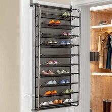 1 шт. Простой Компактный органайзер для обуви для прихожей, новая вешалка для обуви через дверь, настенный шкаф, многослойная полка для обуви, мебель для дома