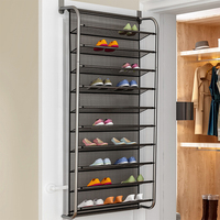 1Pc Simple Hallway Space Saving Shoe Organizer New Over the Door Shoes Hanger Wall Closet Multi Layers Shoes Rack Furniture Home
