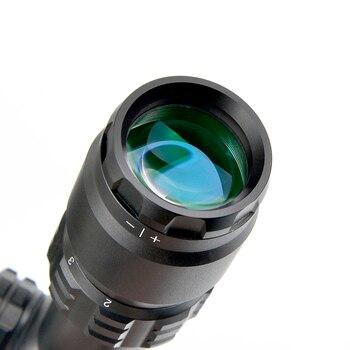 Nowy 2-8X20 Optyka Kompaktowy Luneta Polowanie Zakres Mil Dot Celownik Celownik Polowanie Wiatrówki
