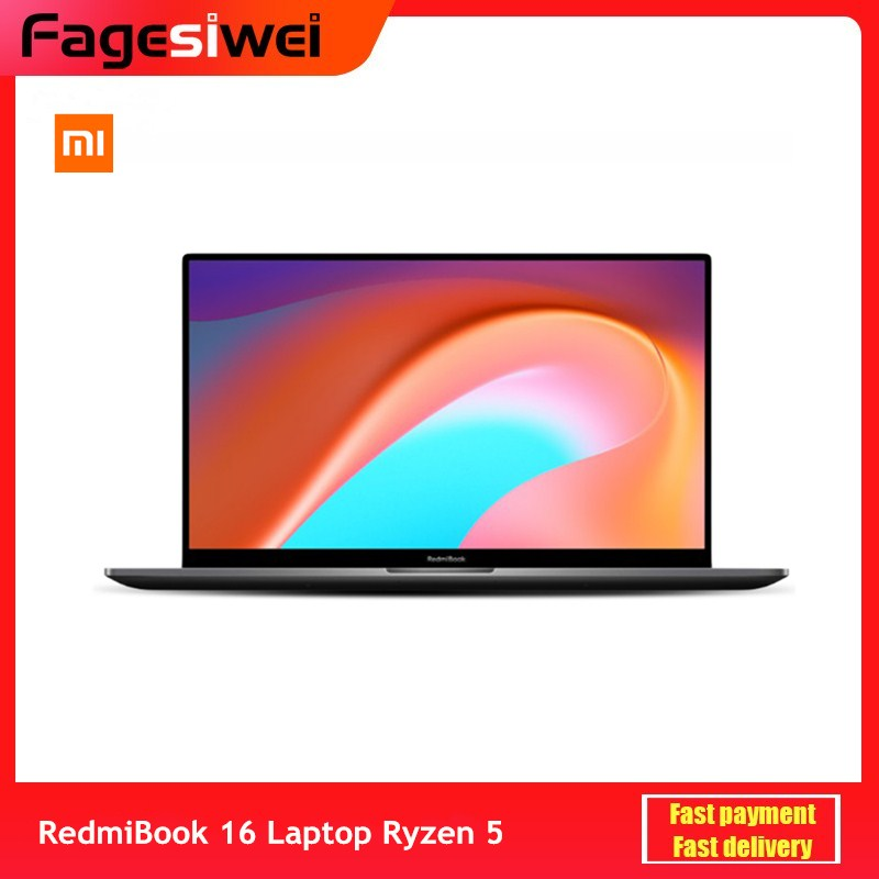 Xiaomi RedmiBook 16 Laptop 16 1                FHD Ryzen 4500U 16GB DDR4 512GB SSD 100percent sRGB Windows 10 MIMO WiFi USB Type C HDMI Computer